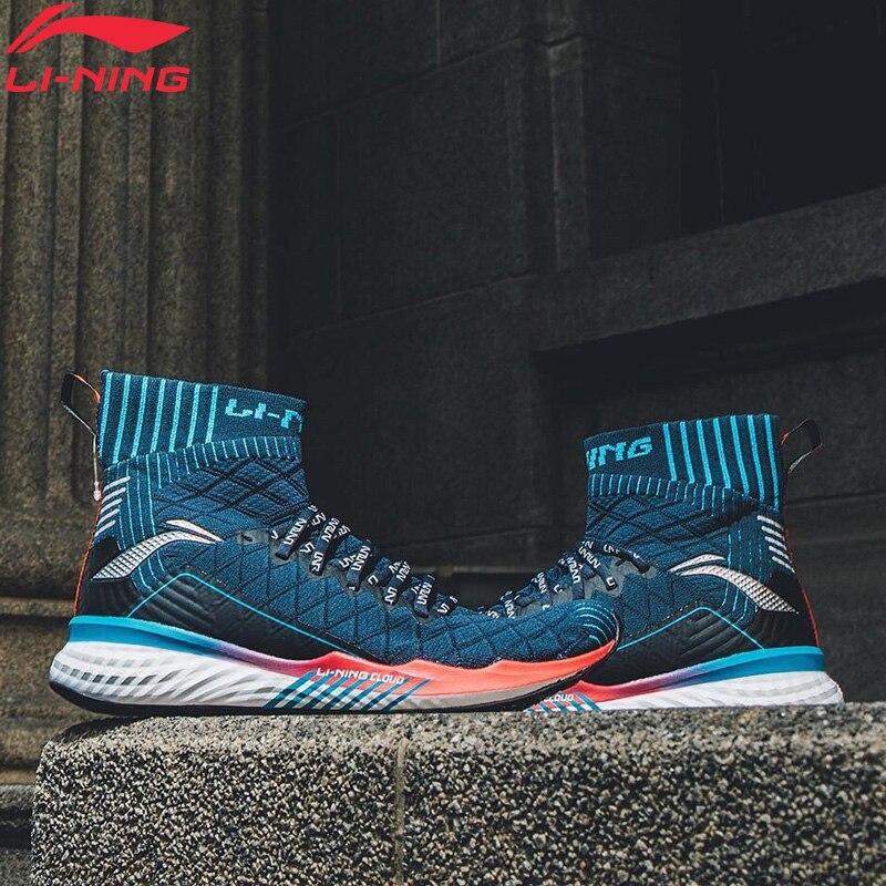 Li-Ning Men LN CLOUD Cushion Running Shoes High-Cut Wearable Breathable LiNing Li Ning Sport Shoes Sneakers ARHP047 XYP882