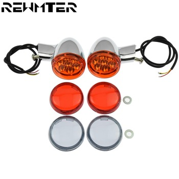 Chrome Rear Amber Turn Signals Lights Indicator Bracket With Lamp Lens Cover Set For Harley Sportster XL 883 XL1200 1992-2017