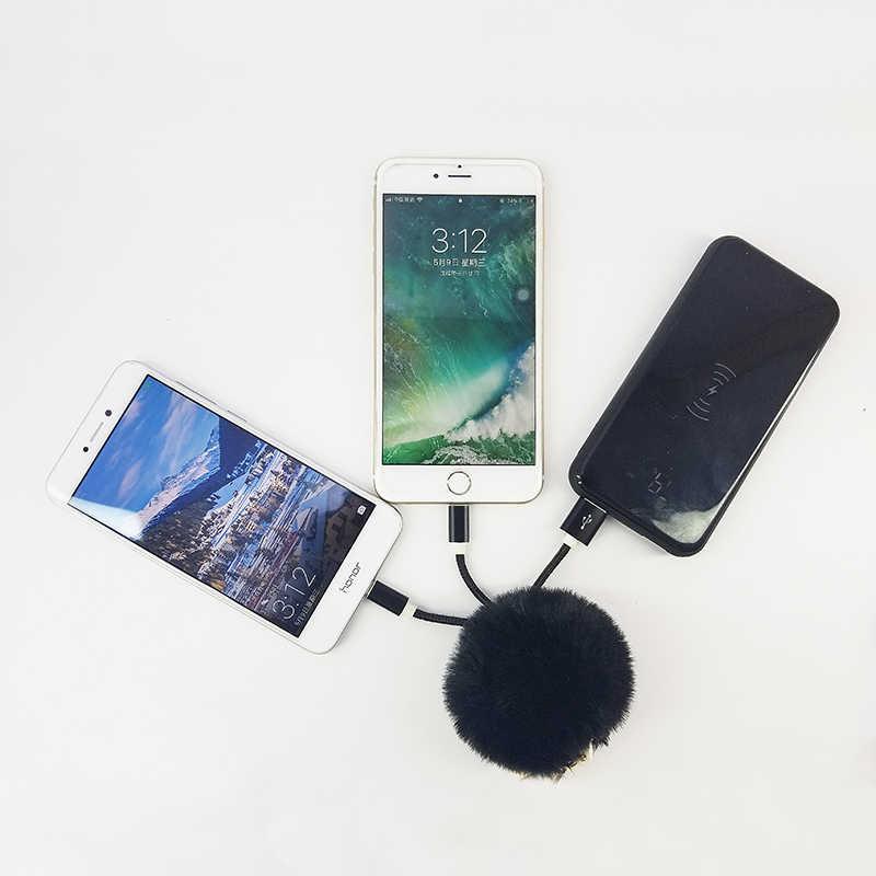 LLavero de cordón trenzado USB portátil hecho a mano Pom bola colgante joyería encanto llavero decoración llavero accesorios 2018