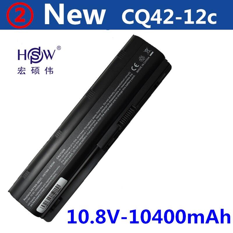 HSW 10400MAH laptop battery for hp pavilion g6 battery DV3 DM4 G32 G4 G42 G62 G7 G72 for Compaq CQ32 CQ42 CQ43 CQ56 CQ62 CQ72 free shipping 628186 001 for hp pavilion dv3 4000 dm4 cq32 g32 laptop motherboard hm55 100