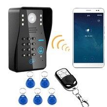 Wireless IP WIFI RFID Password Video Door Phone Doorbell Intercom System Access Control System + wireless remote control unlock