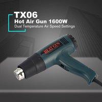 TX06 1600W UK Plug Hot Air Gun Thermostat Heat Gun Hot Air Blower Shrink Wrapping Thermal power tool Soldering Gun Heat Air Gun