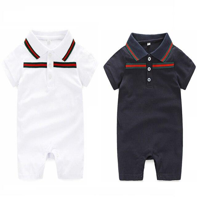 Ребенка Комбинезон бренда 0-24 месяцев Новорожденный мальчик Одежды и шляпа Летом Ребенка комбинезон комплект одежды Младенца Костюмов одежда