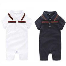 Bébé Barboteuses marque 0-24 mois Nouveau-Né Bébé garçon Vêtements et chapeau D'été Bébé barboteuses ensemble vêtements Costumes Bébé vêtements