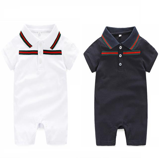 Mamelucos del bebé de la marca de 0-24 meses bebé Recién Nacido Ropa y sombrero de Verano mamelucos Del Bebé fijó Juegos de la ropa Del Bebé ropa