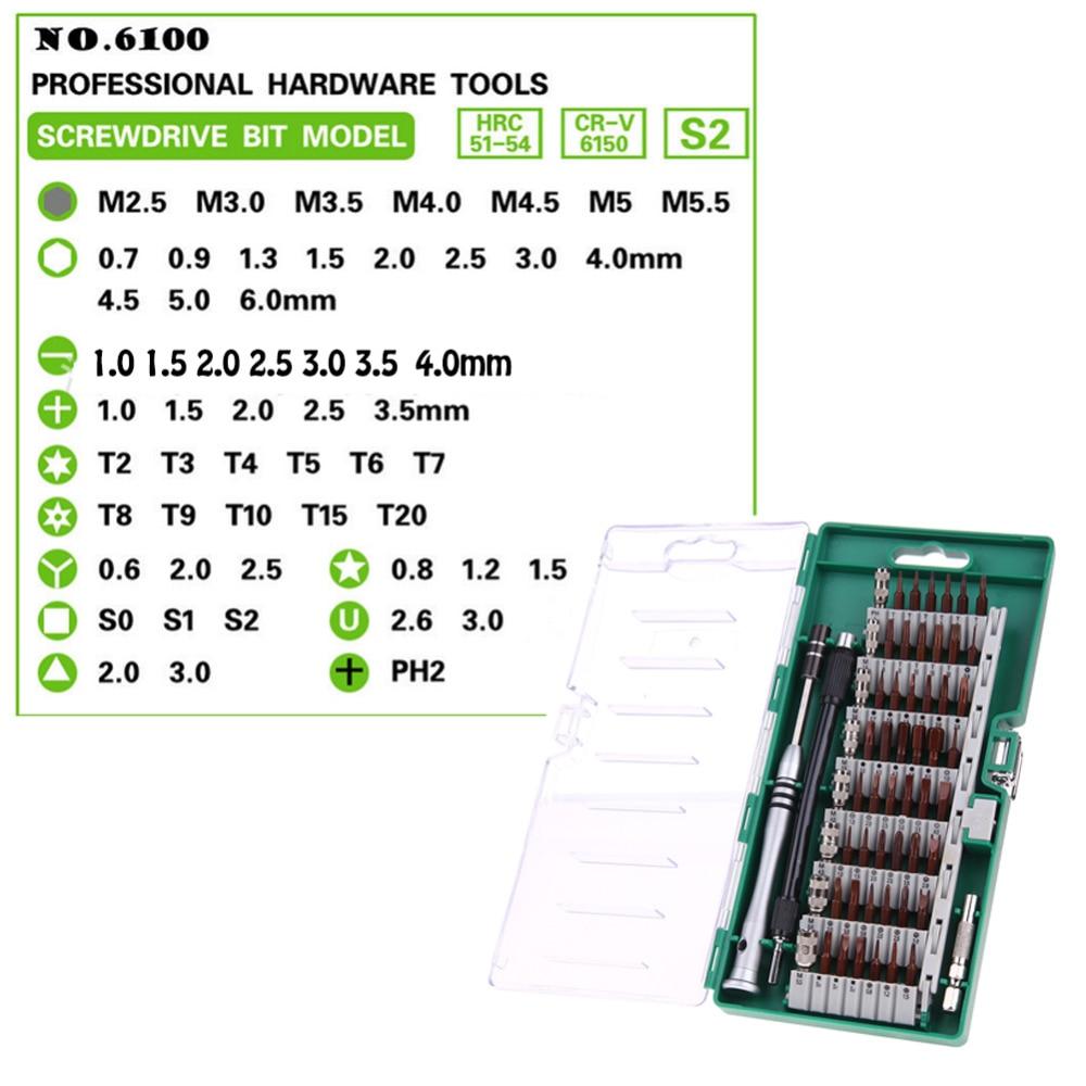 NAUJAS 60 viename tikslumo atsuktuvų įrankių rinkinys, magnetinių - Rankiniai įrankiai - Nuotrauka 2