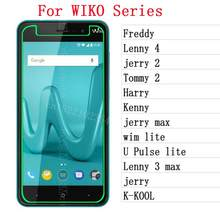 Kaca Tempered untuk Wiko Freddy Lenny 4 3 Max Jerry Max Tommy 2 Harry Kenny Wim Lite U Pulse Lite k-KOOL Jerry Pelindung Layar 4(China)