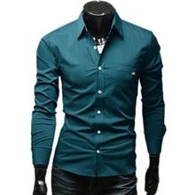 Бренд 4 цвета лента декор мужские платье рубашки приталенный Fit длинный рукав свободного покроя социальной Camisa Masculina M-XXL