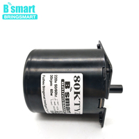 Bringsmart 80KTYZ 220V AC Motor 60kg.cm High Torque 8 10 15 20 30rpm Speed Low Noise 60W Synchronous Reduction AC Gear Motor