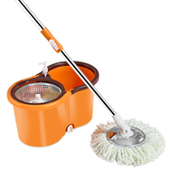 Household Magic Spin Mop Bucket Kitchen Bathroom Cleaning Tools Double Drive Hand Pressure Rotating Mop Cleaning Mop Bucket 2019