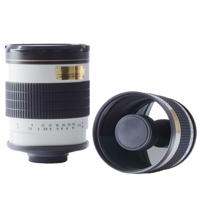 500mm f6.3 T Mount MIRROR TELEPHOTO LENS white for Canon nikon sony pentax fuji olympus m43 nex mirrorless camera цена и фото