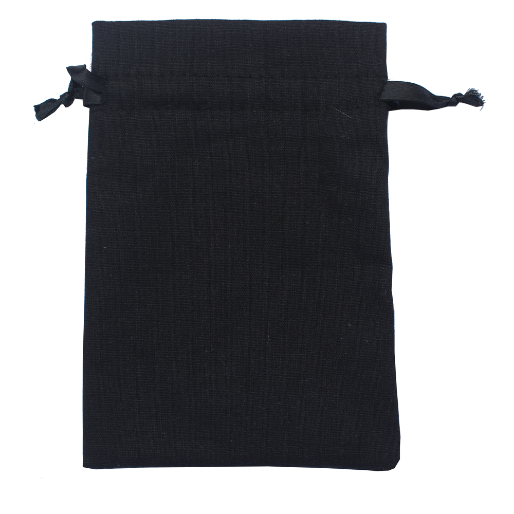 Image 4 - (50pcs/lot)  125g/m2 black & white drawstring promotional bags cotton drawstring pouch recycle bag customize-in Gift Bags & Wrapping Supplies from Home & Garden