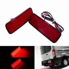 Красный светодиодный задний бампер отражатель задний светильник 2013-up для Ford Transit Van