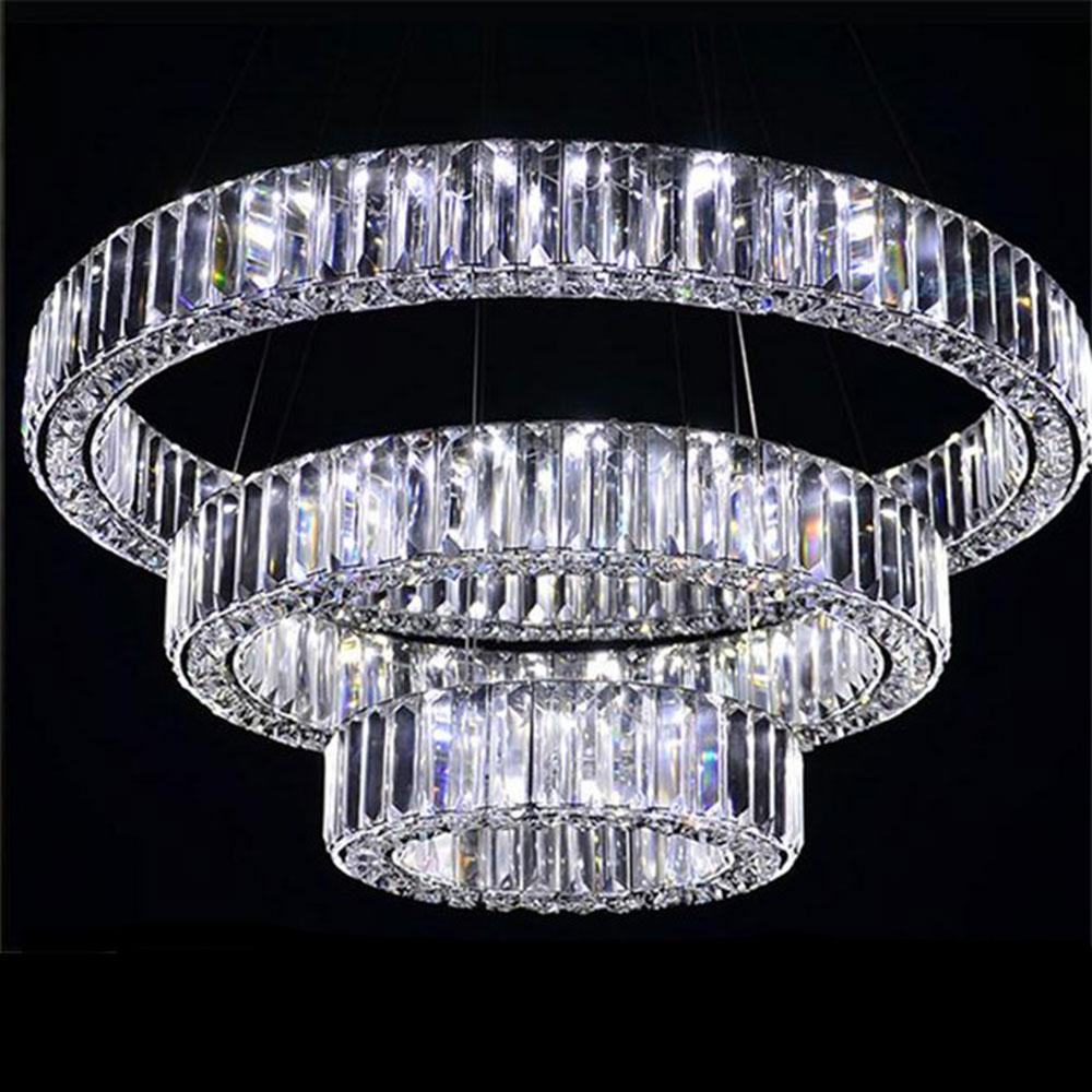 Ac100 240v d20cm zu d80cm drei seiten led kristall pendelleuchten 2017 neue ankunft moderne lange