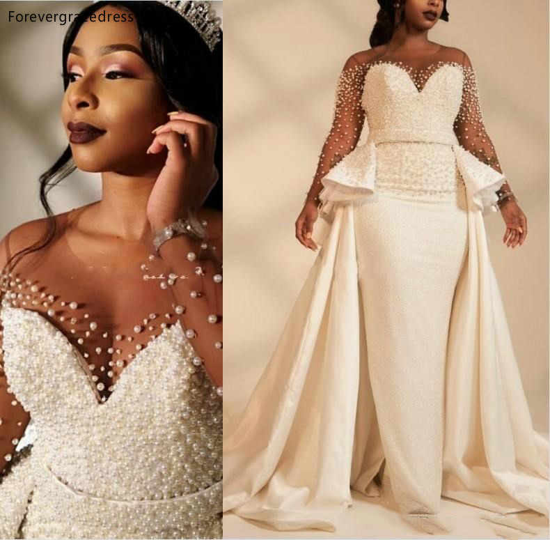 Mermaid Wedding Dresses 2019 South African Black Girls Long