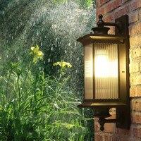 Европа качество Светодиодные крыльцо огни кофе корпус Стекло тени открытый настенный светильник сад открытый светильник Настенный scone уст