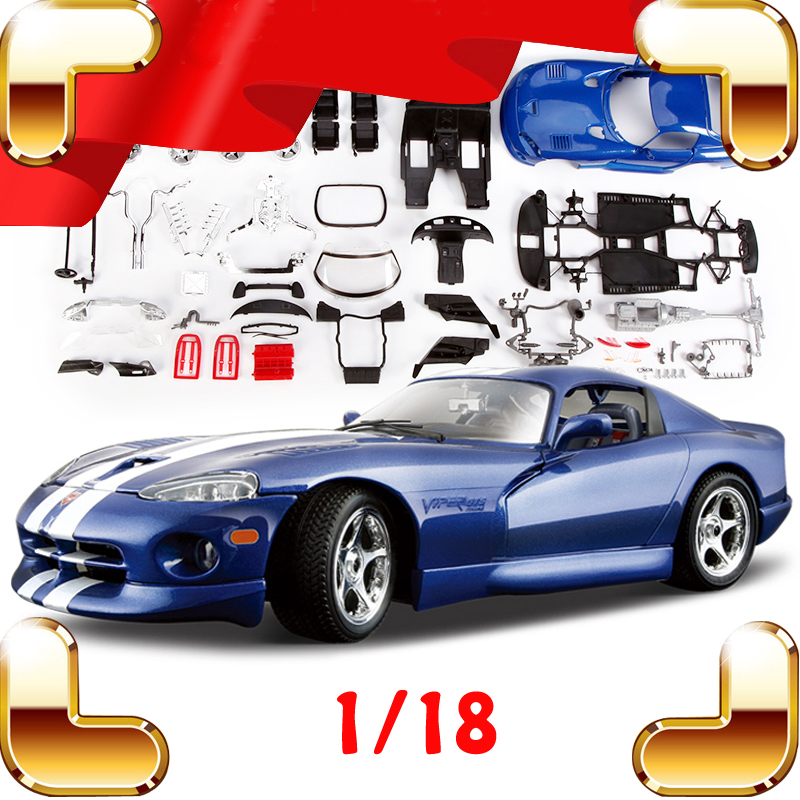 все цены на New Arrival Gift Viper GTS 1996 1/18 Alloy Model Car Vehicle Models Scale Diecast DIY Game Piece Decoration Metal Collection Toy
