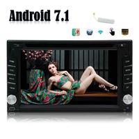 6.2 Android 7.1 Автомобильные ПК Радио стерео dvd плеер автомагнитолы Двойной Дин авто GPS Развлечения + 4 г ключ восьмиядерный DDR3 2 г NAND 32 г