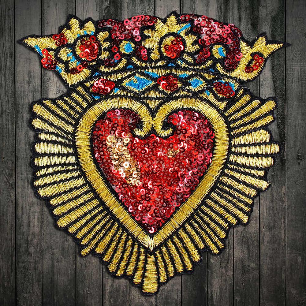Love bordado coser en parches motivos Hierro en