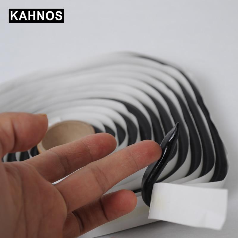 KAHNOS 4M Black Butyl Rubber Glue Headlight Sealant Retrofit Reseal Hid Headlamps Taillight Shield Glue Tapes For Car