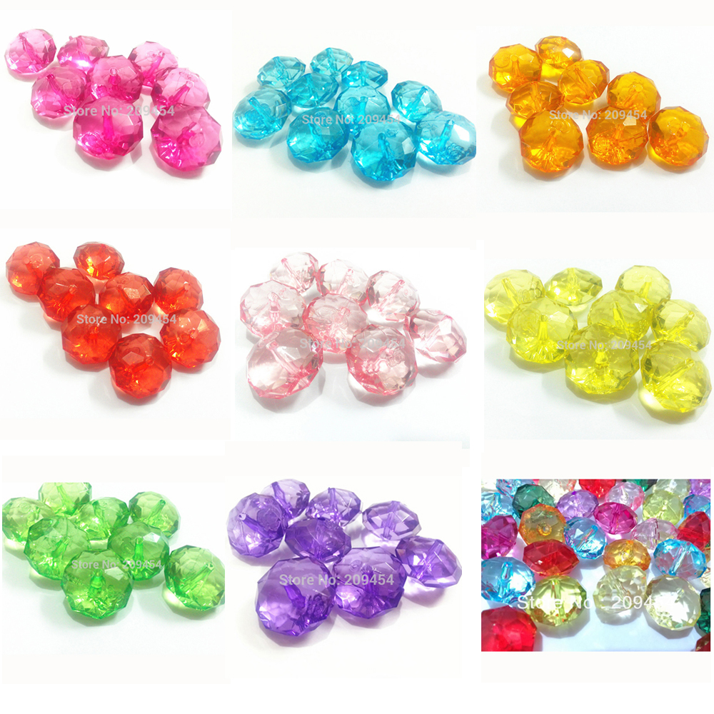 NEW IN 12MM 16MM TRANSPARENT START SHAPED ACRYLIC BEADS FOR JEWELLERY MAKING