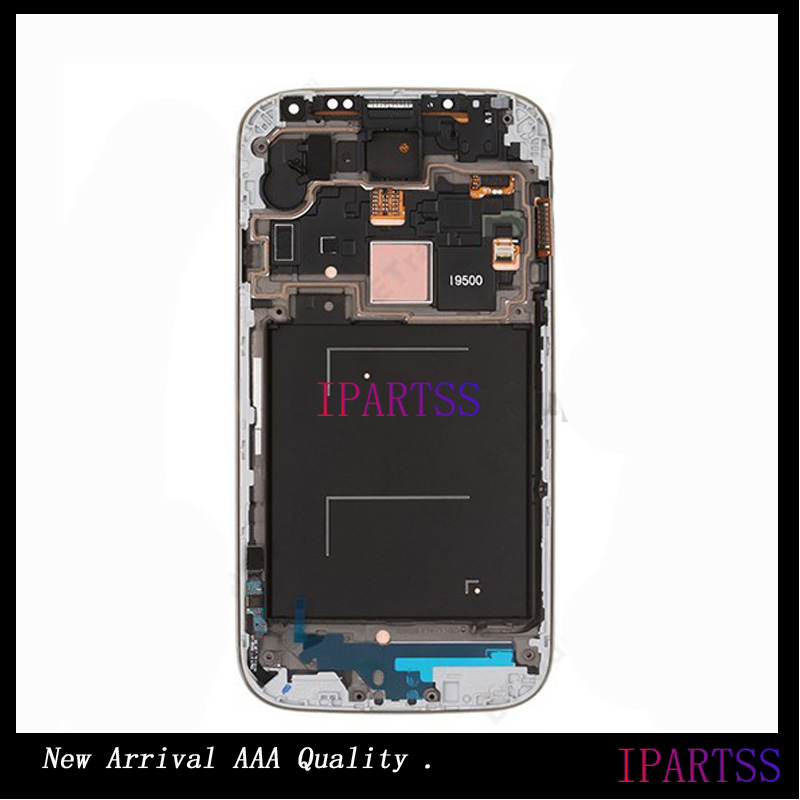 ФОТО New Arrival For Samsung Galaxy S4 i9500 GT 9500 LCD Screen With Front Frame Housing Assembly For Samsung S4