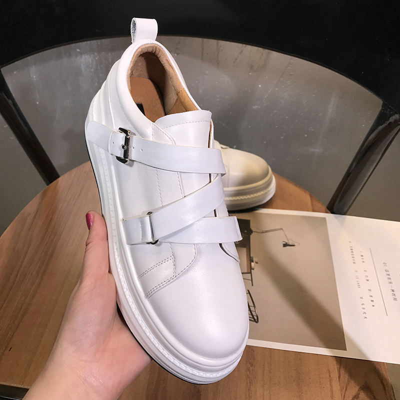 EshtonShero Women's Shoes Vulcanize Platform Shoes Woman Pumps Sneakers Wedge Med Heels Ladies Elastic Band Casual Shoe Size 3-9