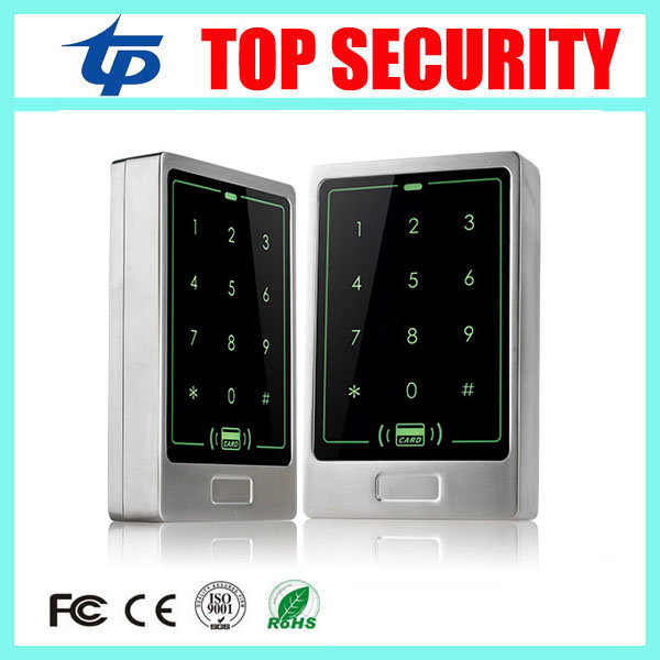 IP65 waterproof door access control card reader 8000 users touch keypad 125KHZ RFID card metal standalone access control system wg input rfid em card reader ip68 waterproof metal standalone door lock access control with keypad support 2000 card users
