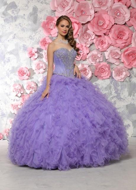 cdab314522 Beatiful barato Vestidos De 15 Anos rebordeado amor lavanda vestido De Quinceanera  Vestidos 2016 debutante dulce