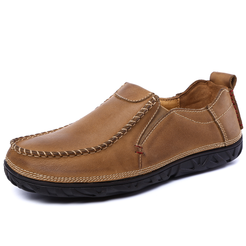 2017 New Mens Loafers Leather Luxury Brand Comfortable Walking Footwear Spring Autumn Mens Shoes Genuine Leather Loafers Men pacento 2017 luxury brand shoes men genuine leather mens shoes comfortable moccasins mens loafers flats shoe sapato masculino