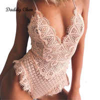 Sexy Lace Bodysuit for Women Bodycon Jumpsuit Summer Cut Out Rompers Club Wear Jumpsuit Body Overalls female Playsuit Bodysuits