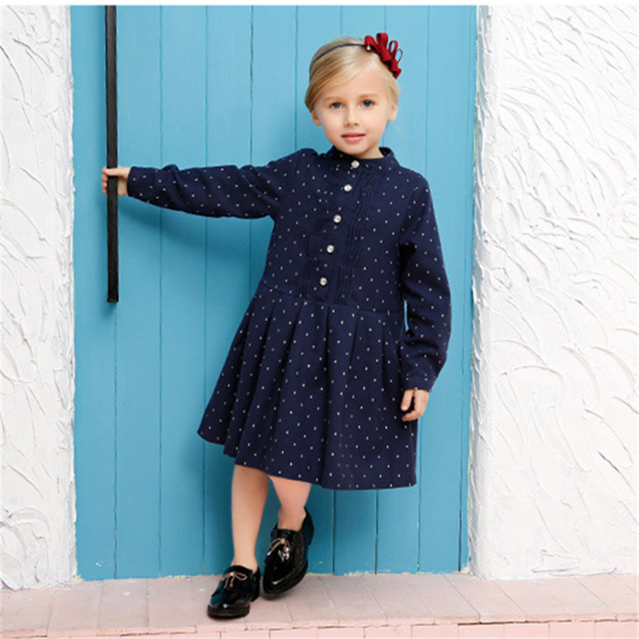 Children Dress Girl Princess Dress Elsa Anna Dress For Kids Cotton Long Sleeve  Dresses Little Girls Clothing Casual 70C1164 princess girls dress children long sleeve cartoon baby girl cotton party dresses for kids 2017 new minnie mouse dress cotton