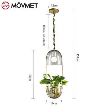 Pots De Fleurs Suspendus | Nordique Plante Pendentif Lumières Bricolage Ciel LED De Jardin Lampe Pot De Fleur Suspension Lampe Salle à Manger Restaurant Luminaires Décor à La Maison