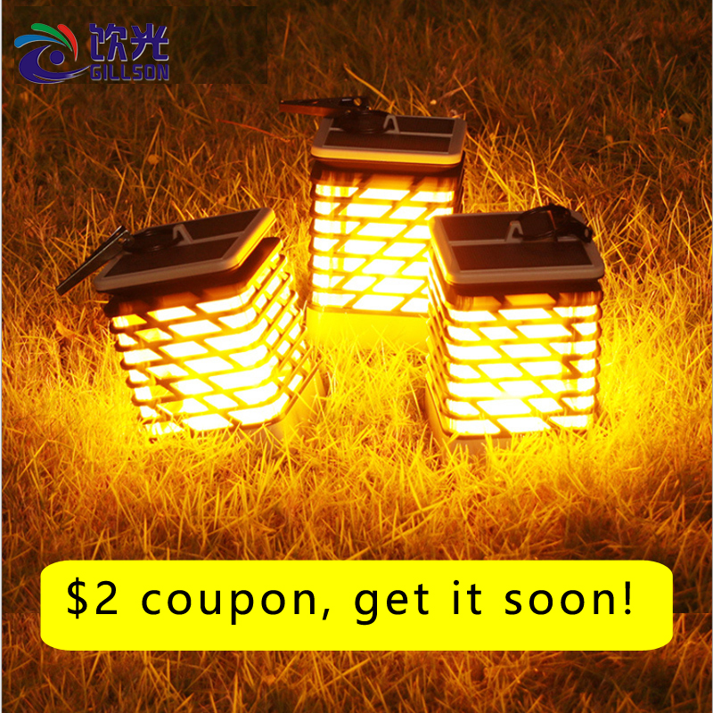 Waterproof LED Solar Garden Light Flame Torch Flickering Lamp Outdoor Lantern Landscape Yard Path Decorate  Atmosphere LightingWaterproof LED Solar Garden Light Flame Torch Flickering Lamp Outdoor Lantern Landscape Yard Path Decorate  Atmosphere Lighting