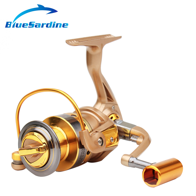 New Spinning Reel Fishing pesca coil Fishing Reel Golden Metal Spool - Fishing - Photo 3