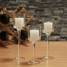 3PCS Set Crystal Candle Holder home Decoration
