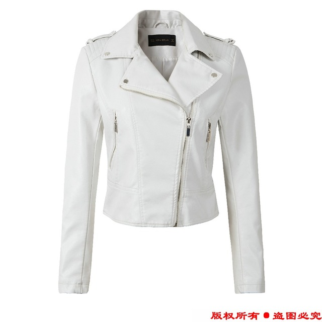 Leather Jacket Women Winter And Autumn New Fashion Coat 4 Color Zipper Outerwear jacket 4