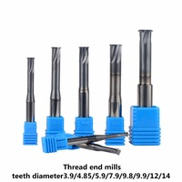 Free Shipping Carbide Thread End Mills D3 9 4 85 5 9 7 9 9 8