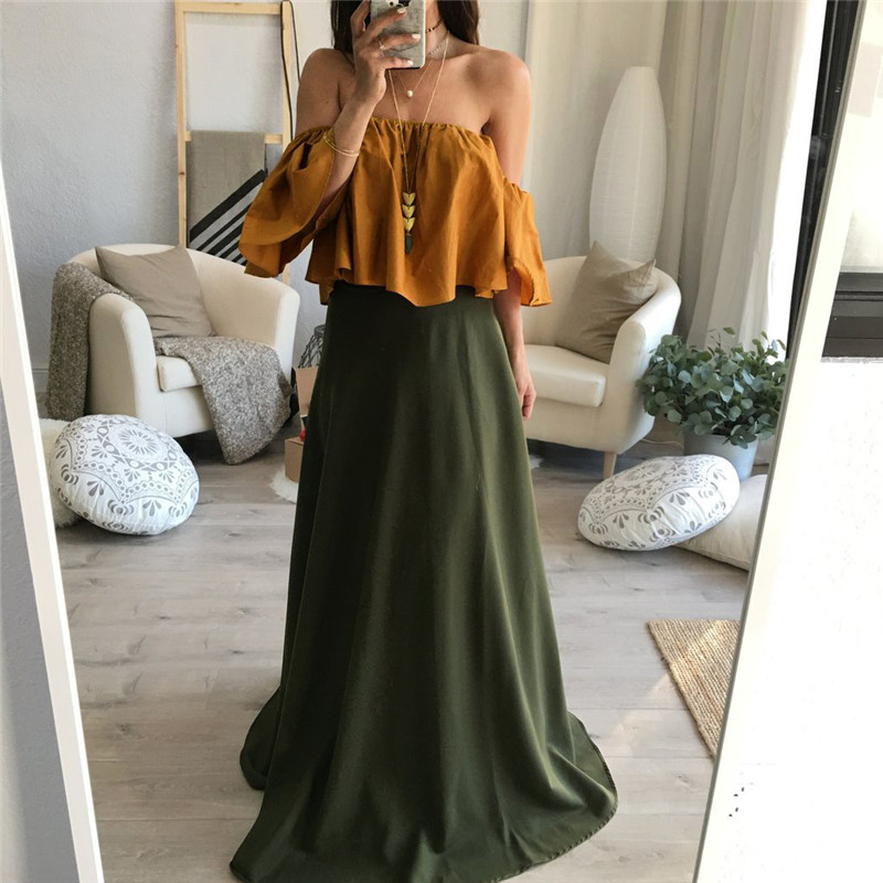 16c7c7aa800083 Feitong Off Shoulder Top Blouse Cropped for Women's Sleeveless Shirt Solid  Ruffle Blouse Woman Tops Chemises Femme Camisas Mujer-in Blouses & Shirts  from ...
