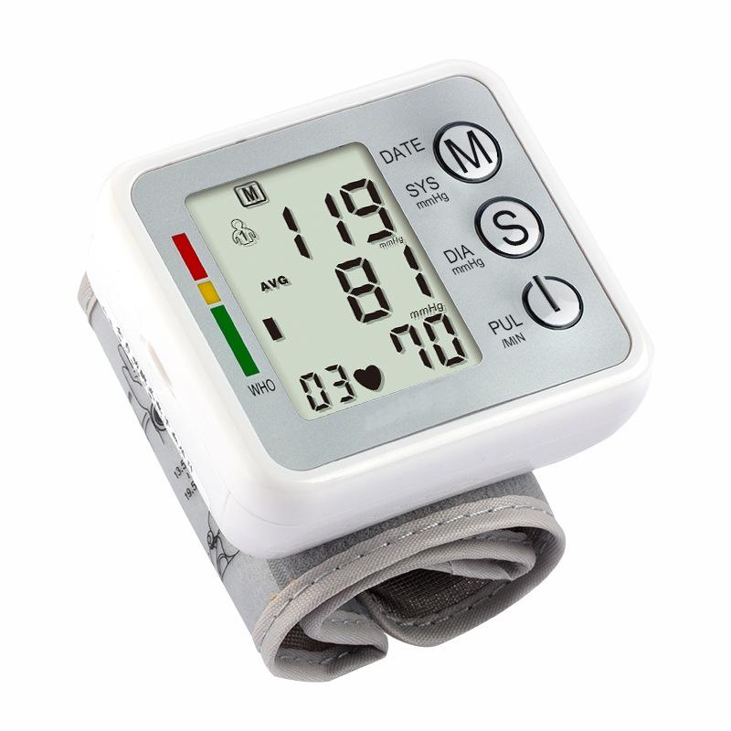 Household Health Care Electronic Measure Blood Pressure Meter Digital Wrist Sphygmomanometer Tonometer Pulse Heart Rate Monitor 12