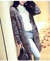 Кардиган Свитер women'sFlower пряжа свободные длинный кардиган свитер женские модели осенью и зимой свитер пальто