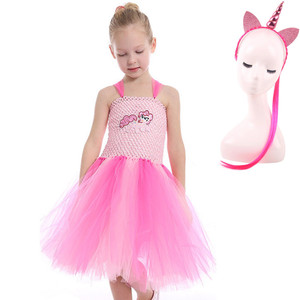 Image 5 - 3Pcs Girls Tutu Dress for My Little Girl Toddler Pony Costume for Birthday Party Halloween Dress Up  Classic Girls Costume