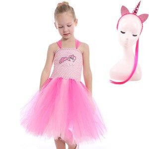 Image 5 - Robe Tutu pour filles, 3 pièces, déguisement poney classique pour fête danniversaire, Halloween, pour petite fille en bas âge