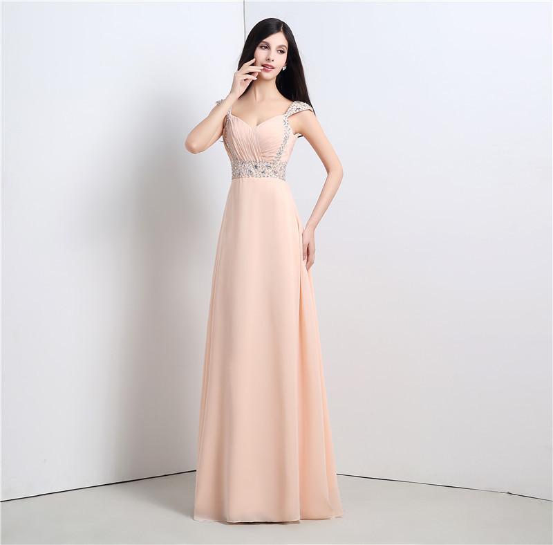 100% Real Photos Sexy   Prom     Dress   A Line Spaghetti Straps Chiffon Backless Formal Party Gown Plus Size Custom Made