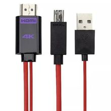 4K MHL Micro USB to HDMI HDTV AV TV Adapter Cable For Samsung Galaxy S2 II i9100 HTC ONE M9 remix M8 M7 ONE Max S Mini