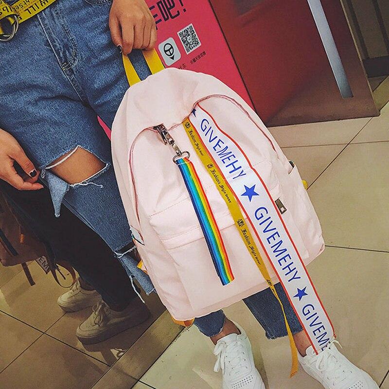 2017 Japanese girls shoulder bag streamer high school students bag soft sister wild leisure backpack travel bag tide Y275
