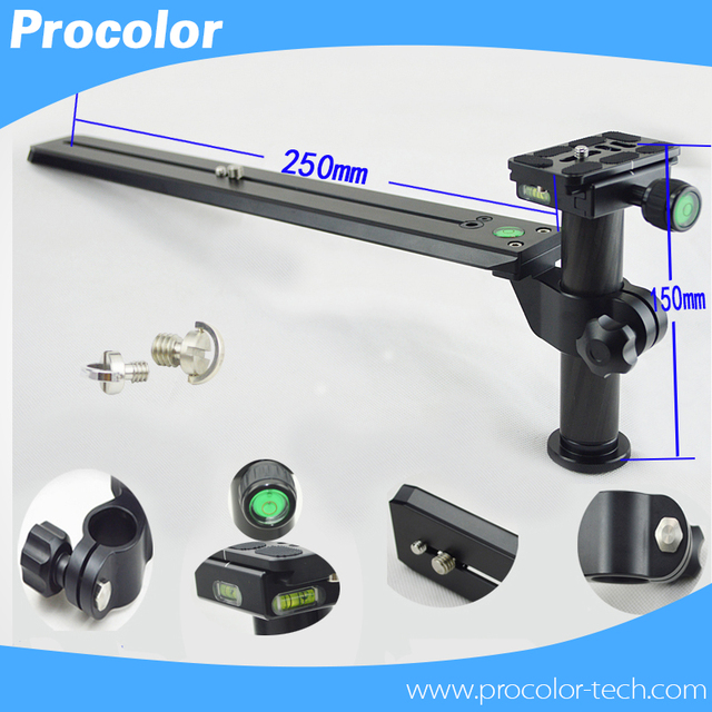 "Telephoto Lens Support Bracket Holder with 200mm Long Rail Quick Release Plate 1/4"" & 3/8"" Mounting Screws for 200-500mm Lens"