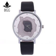 New Design Fashion Watches Women 5 floors Dial Unique Wristwatch 2017 BGG Brand Creative Female Quartz Clock Woman Leather Band