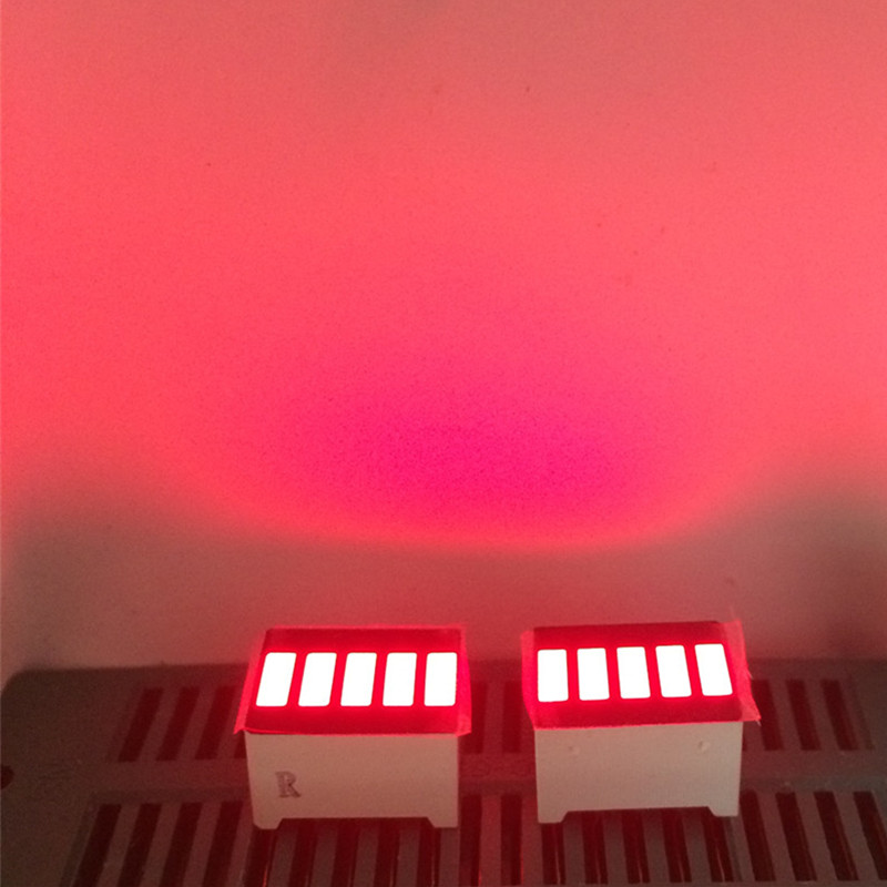 5pcs LED Red Bargraph 5 Segment LED Display 5 LED Bar  Display For DIY Kit
