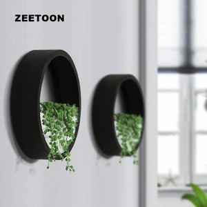 Креативная настенная ваза, подвесные вазы, железное искусство, круглые растения, искусственные цветы в горшке, корзина для украшения дома, у...